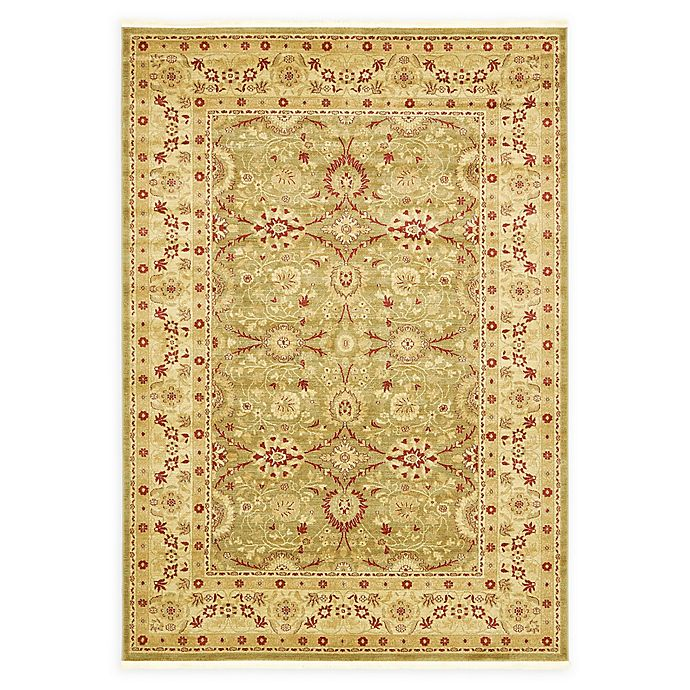 Alternate image 1 for Unique Loom Heritage Monroe 7' X 10' Powerloomed Area Rug in Light Green