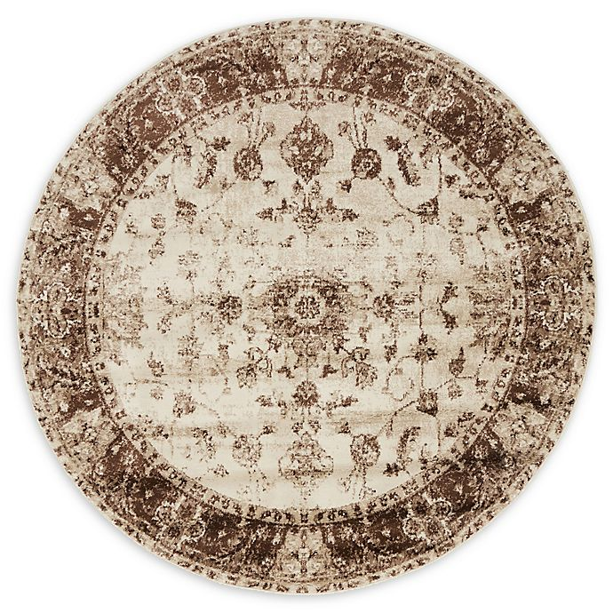 Alternate image 1 for Unique Loom Himalaya Lincoln 5' Round Powerloomed Area Rug in Cream