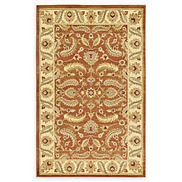 Unique Loom Hickory Agra Rug in Brick Red