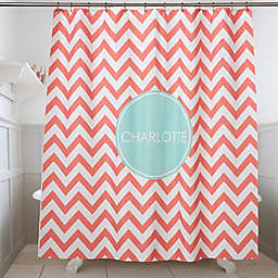 Preppy Chic Personalized Shower Curtain