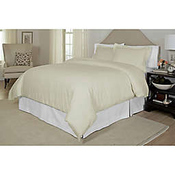 Pointehaven Printed 300-Thread-Count Twin/Twin XL Duvet Cover Set in Bone