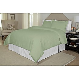 Pointehaven Printed 300-Thread-Count Duvet Cover Set