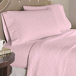 Pointehaven Bow 200-Thread-Count Percale Sheet Set