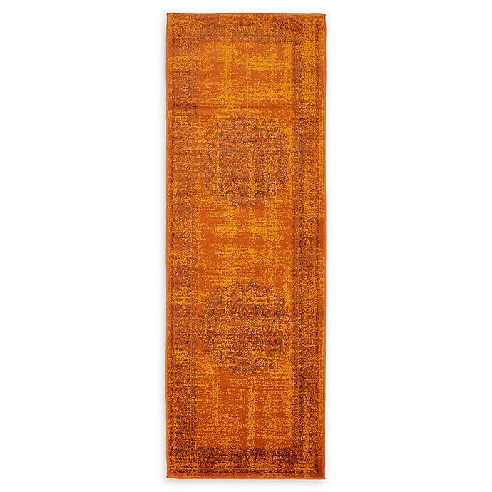 Alternate image 1 for Unique Loom Istanbul Cypress 6' Runner Powerloomed in Terracotta
