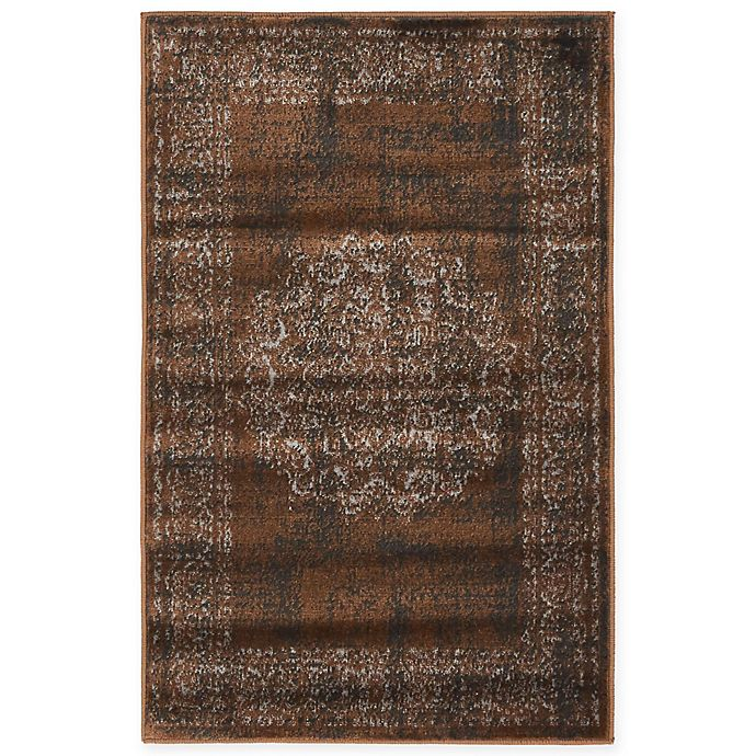 Alternate image 1 for Unique Loom Istanbul Cypress 2' x 3' Accent Rug in Chocolate Brown