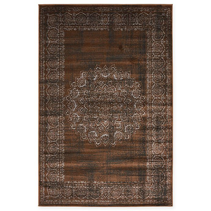 Alternate image 1 for Unique Loom Istanbul Cypress 4' x 6' Area Rug in Chocolate Brown