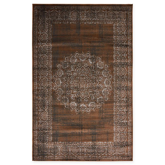 Alternate image 1 for Unique Loom Istanbul Cypress 5' x 8' Area Rug in Chocolate Brown