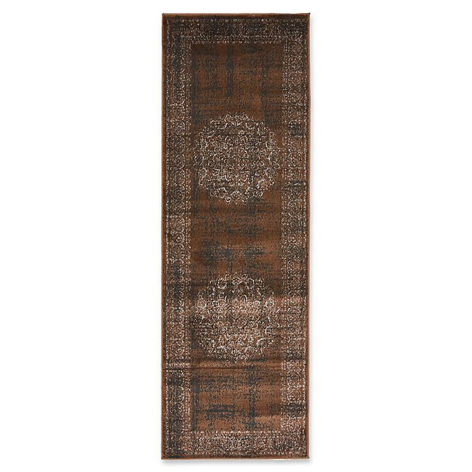 Alternate image 1 for Unique Loom Istanbul Cypress 2' x 6' Runner in Chocolate Brown