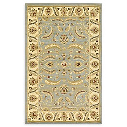 Unique Loom Hickory Agra Rug in Light Blue