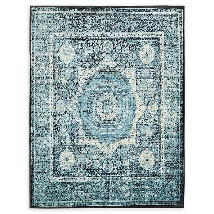 Alternate image 1 for Unique Loom Istanbul Lygos 7' X 10' Powerloomed Area Rug in Blue