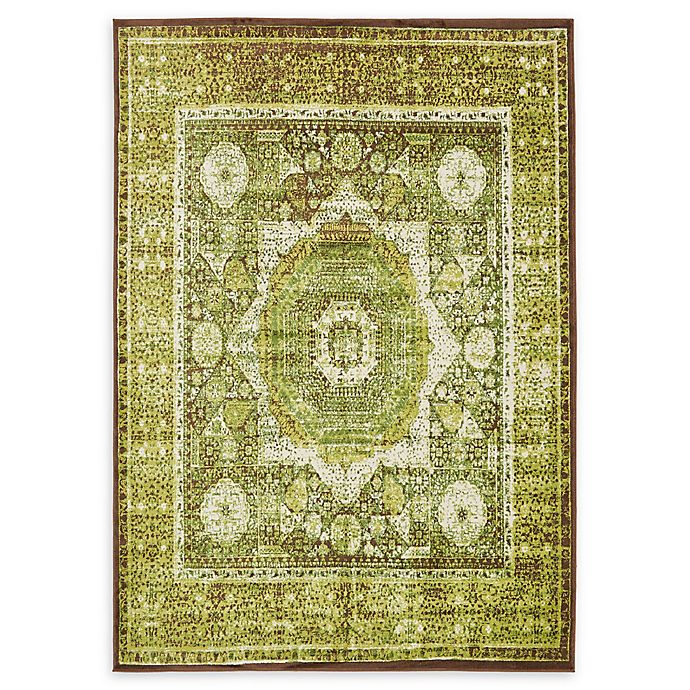Alternate image 1 for Unique Loom Istanbul Lygos 7' X 10' Powerloomed Area Rug in Light Green