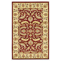 Unique Loom Hickory Agra Rug in Red