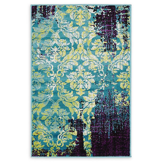 Alternate image 1 for Unique Loom Istanbul Aegean 2' X 3' Powerloomed Area Rug in Blue