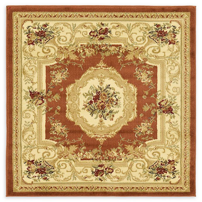 Alternate image 1 for Unique Loom Henry Versailles 4' X 4' Powerloomed Area Rug in Brick Red