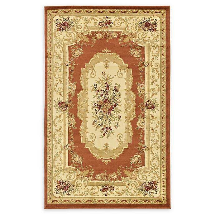 Alternate image 1 for Unique Loom Henry Versailles 5' X 8' Powerloomed Area Rug in Brick Red