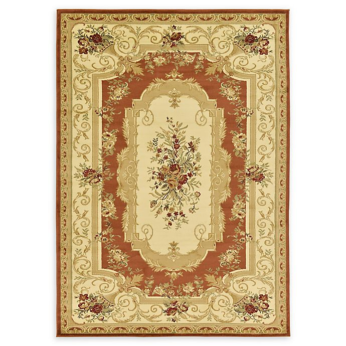 Alternate image 1 for Unique Loom Henry Versailles 7' X 10' Powerloomed Area Rug in Brick Red
