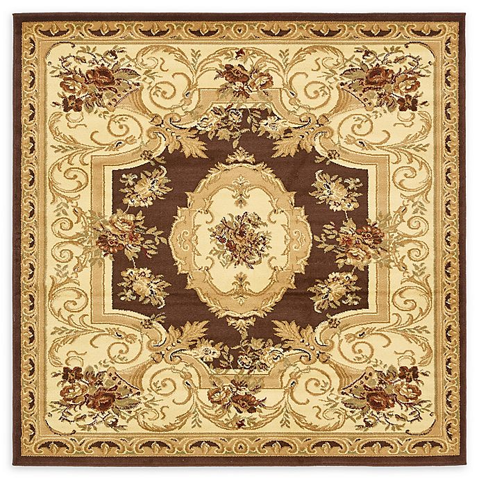 Alternate image 1 for Unique Loom Henry Versailles 6' X 6' Powerloomed Area Rug in Brown