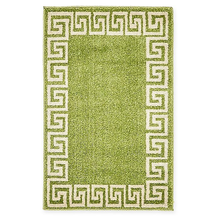 Alternate image 1 for Unique Loom Modern Athens 2' X 3' Powerloomed Area Rug in Light Green