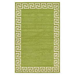 Unique Loom Modern Athens Powerloomed Rug in Light Green