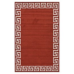 Unique Loom Modern Athens Rug in Terracotta