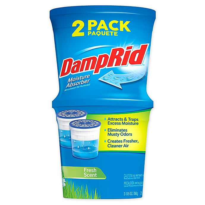 Alternate image 1 for DampRid™ 2-Pack Refillable Moisture Absorber in Fresh Scent
