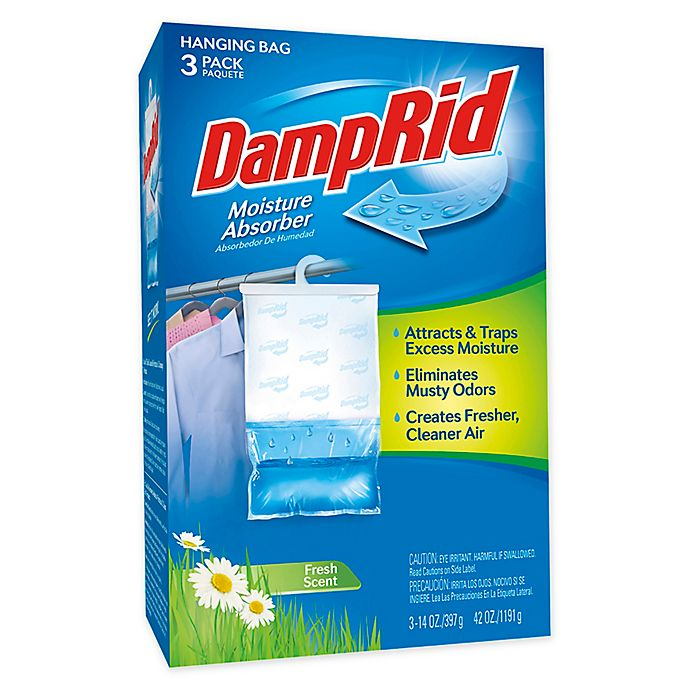 Alternate image 1 for DampRid® Hanging Moisture Absorber in Fresh Scent (Set of 3)