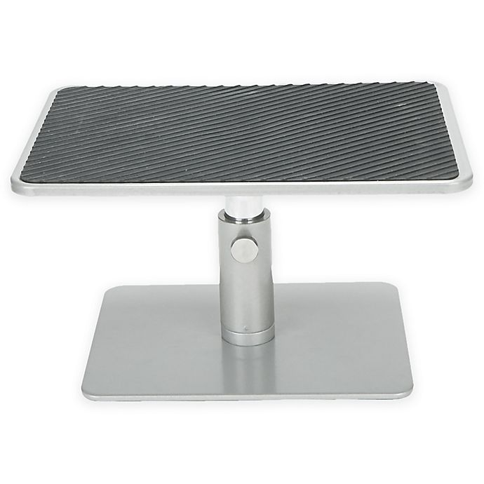 Alternate image 1 for Mind Reader Adjustable Monitor Riser Stand in Silver/Black
