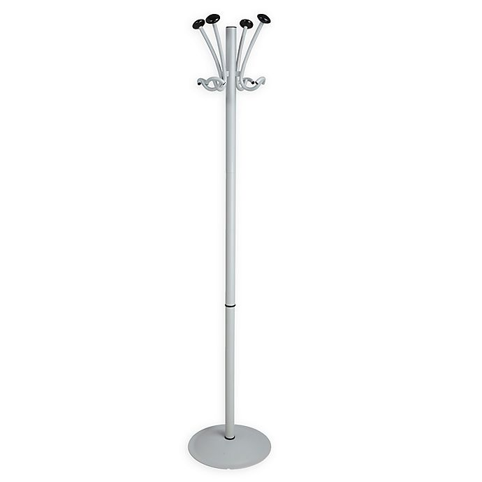 Alternate image 1 for Mind Reader Freestanding 8-Hook Coat Stand and Hat Rack in Silver
