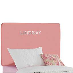 Skyline Furniture Scottsburg Duck Upholstered Headboard in Light Pink