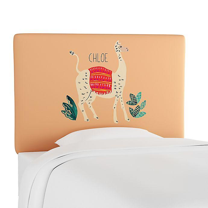 Alternate image 1 for Skyline Furniture Scottsburg Llama Upholstered Headboard in Cream