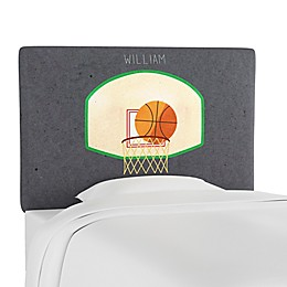 Skyline Furniture Scottsburg Basketball Upholstered Headboard in Grey
