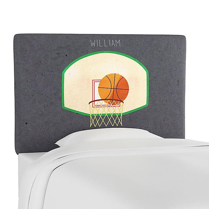Alternate image 1 for Skyline Furniture Scottsburg Basketball Upholstered Headboard in Grey