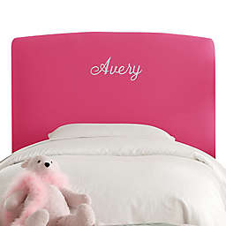 Skyline Furniture Taylor Duck Upholstered Headboard in Pink