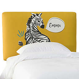 Skyline Furniture Scottsburg Zebra Upholstered Headboard in Yellow