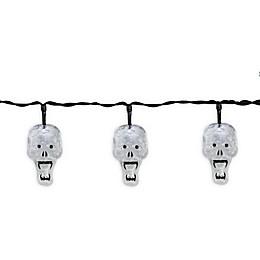 Halloween Skulls 10-Light LED String Lights