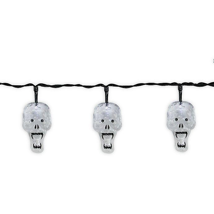Alternate image 1 for Halloween Skulls 10-Light LED String Lights