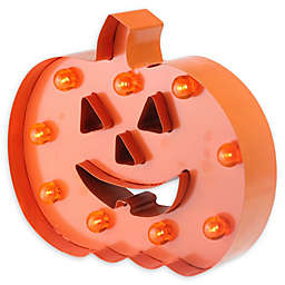 Pumpkin 10-Inch Halloween Decoration in Orange