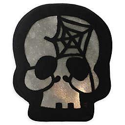 Northlight 11-Inch LED Skull Face Halloween Decoration in Black