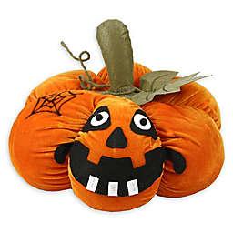 Northlight® Pre-Lit LED Plush Jack-o'-Lantern Halloween Decoration in Orange