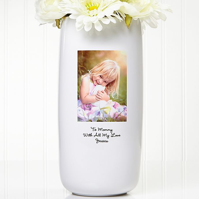 Alternate image 1 for Photo Sentiments Ceramic Vase