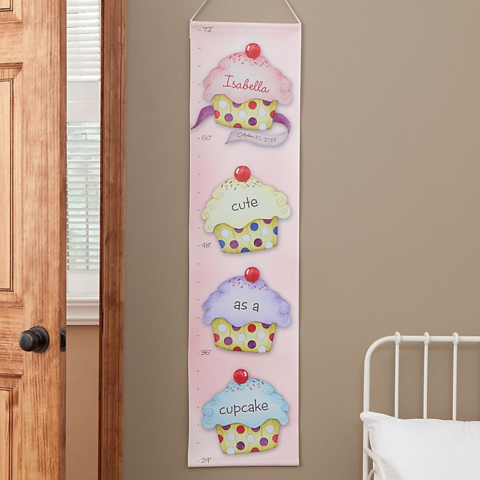 Alternate image 1 for Personalized Cute As A Cupcake Growth Chart
