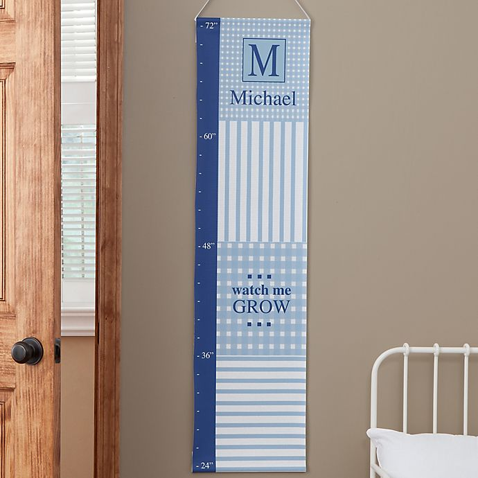 Alternate image 1 for Personalized Gingham Growth Chart