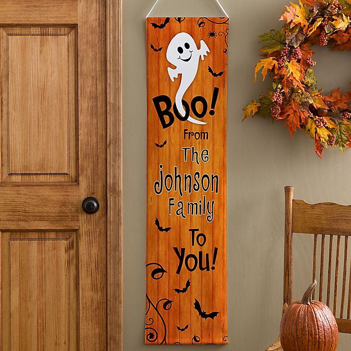 Alternate image 1 for Personalized Happy Halloween Door Banner