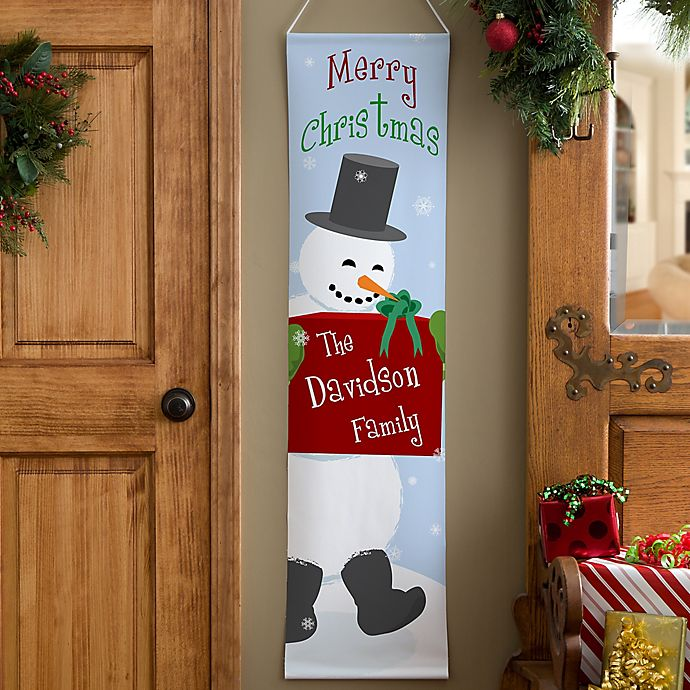 Alternate image 1 for Personalized Merry Christmas Door Banner