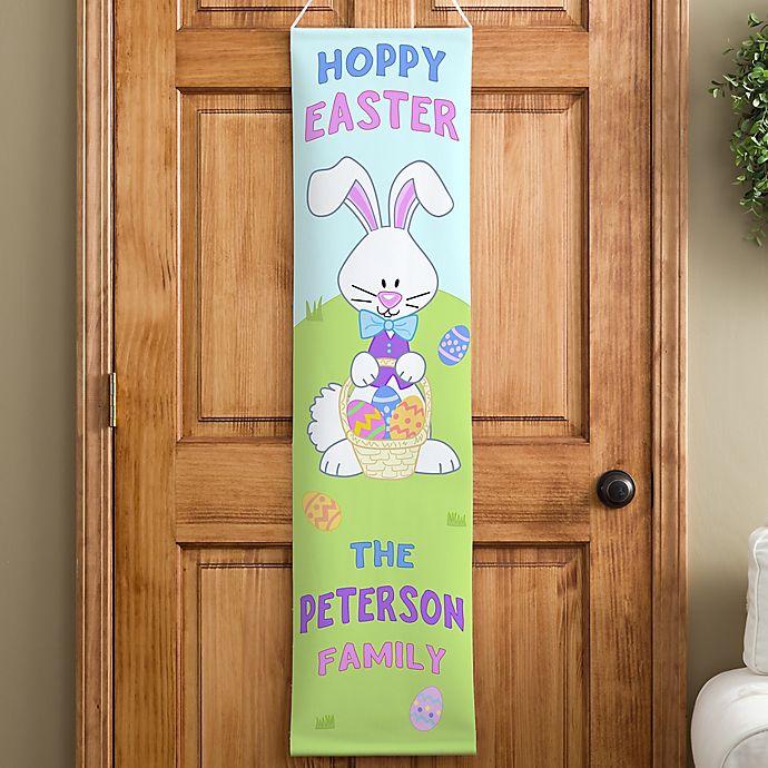 Alternate image 1 for Personalized Hoppy Easter Door Banner