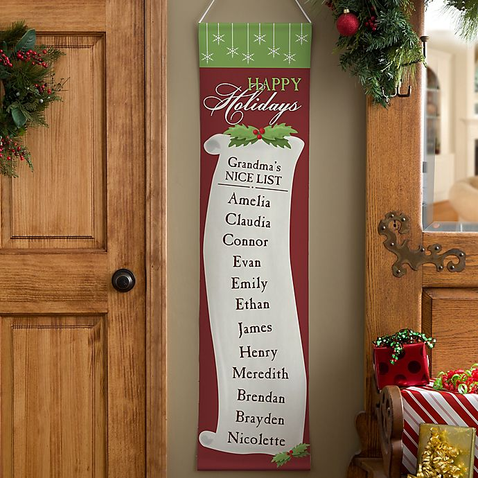 Alternate image 1 for Personalized Christmas Nice List Door Banner