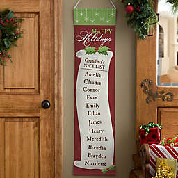 Personalized Christmas Nice List Door Banner