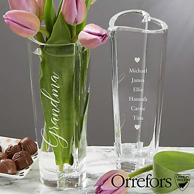Orrefors Crystal Heart for Grandma Bud Vase