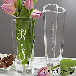 Orrefors Crystal Romantic Heart Bud Vase