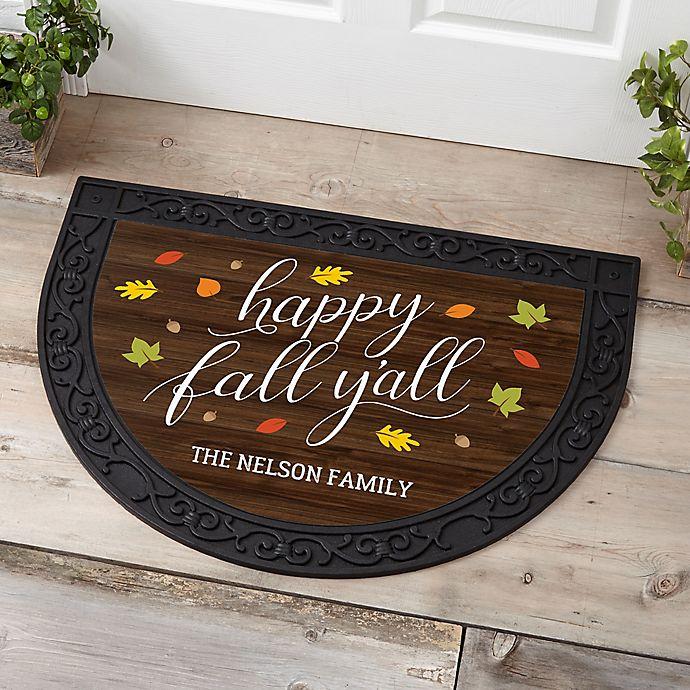 Alternate image 1 for Happy Fall Y'all Half Round Doormat